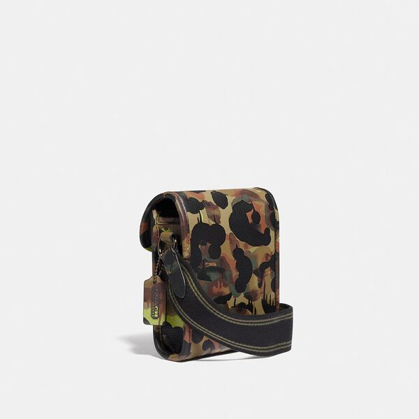 Charter North/South Crossbody With Hybrid Pouch With Camo Print, NEON/YELLOW/BROWN, hi-res
