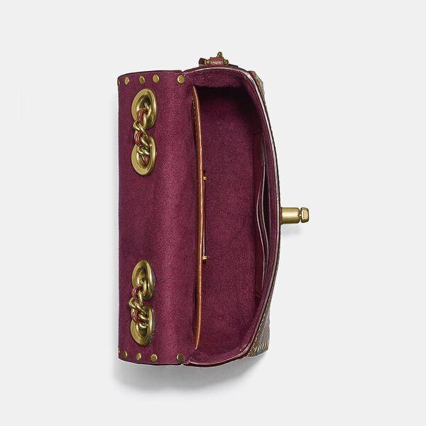 Madison Shoulder Bag 16 In Signature Canvas With Rivets, B4/TAN RUST, hi-res