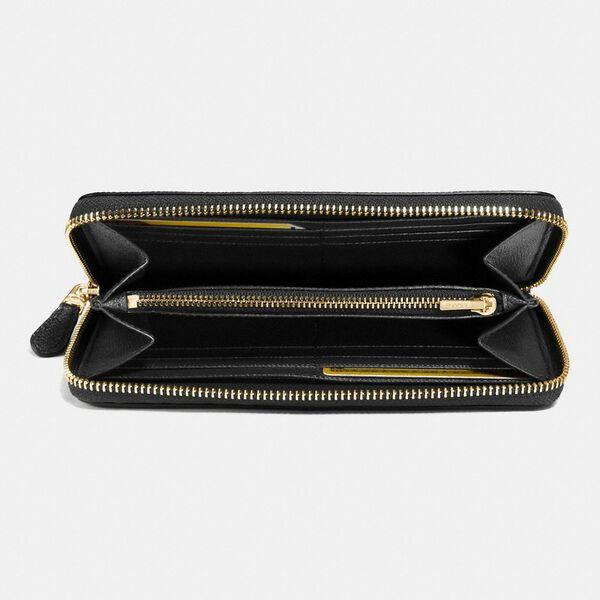 Accordion Zip Wallet, LI/BLACK, hi-res