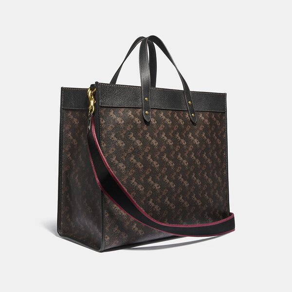 Field Tote 40 With Horse And Carriage Print, B4/BLACK BROWN, hi-res