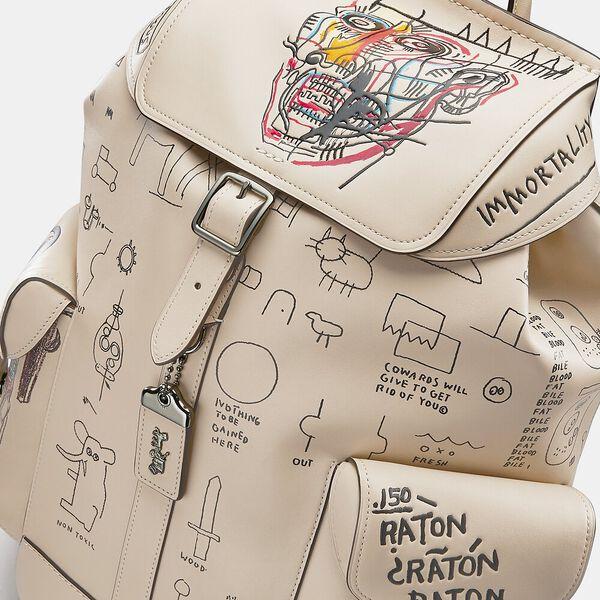 Coach X Jean-Michel Basquiat Wells Backpack In Head 1982-83, 0I/IVORY, hi-res