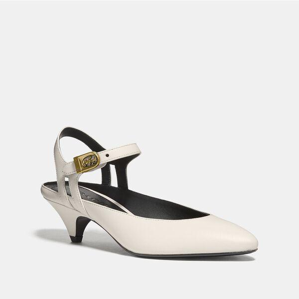 Ankle Strap Heel, CHALK, hi-res