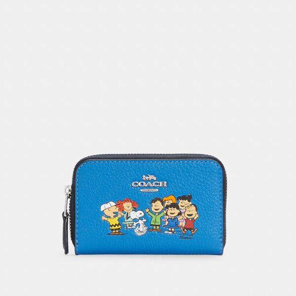 Coach X Peanuts Zip Around Coin Case With Snoopy And Friends