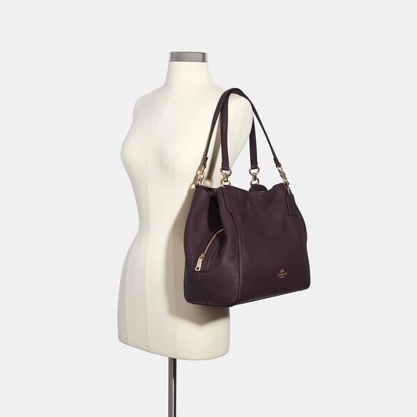 Hallie Shoulder Bag, IM/BOYSENBERRY, hi-res