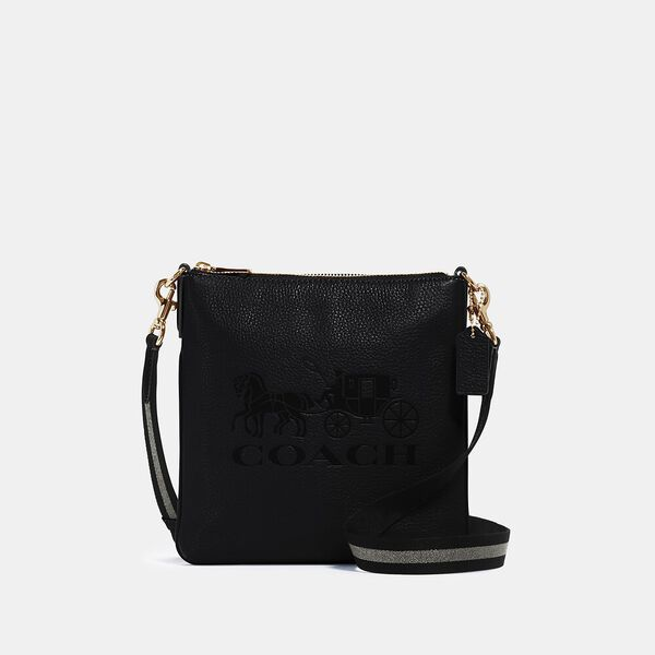 Jes Slim Crossbody With Horse And Carriage, IM/BLACK, hi-res
