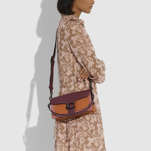 Tabby Shoulder Bag 26 In Colorblock, V5/VINTAGE PINK MULTI, hi-res