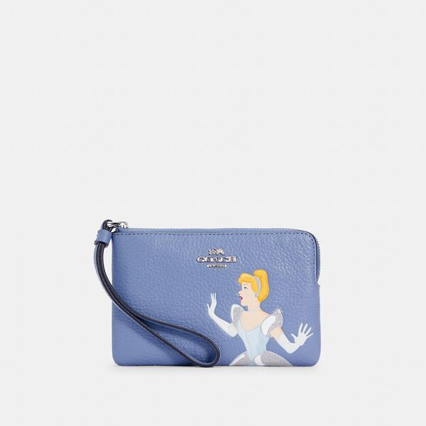 Disney x Coach Corner Zip Wristlet With Cinderella