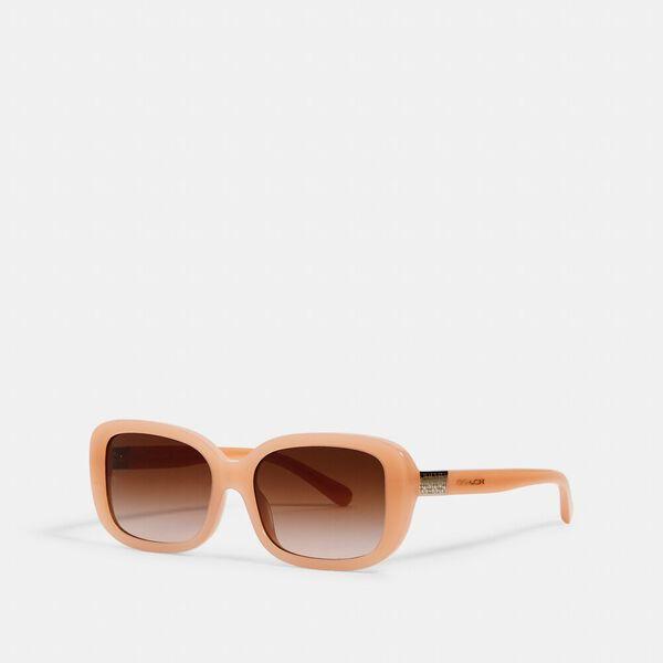 Signature Rectangle Sunglasses, MILKY BEIGE, hi-res