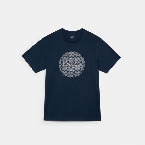 Signature Chambray T-Shirt, MIDNIGHT NAVY, hi-res