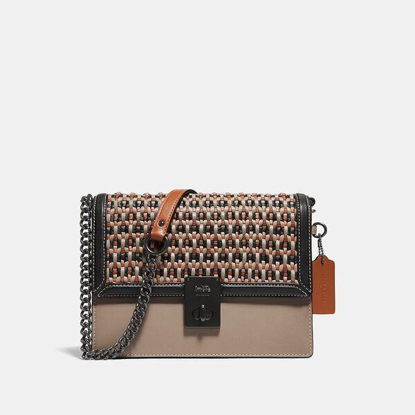 Hutton Shoulder Bag With Weaving, V5/TAUPE MULTI, hi-res
