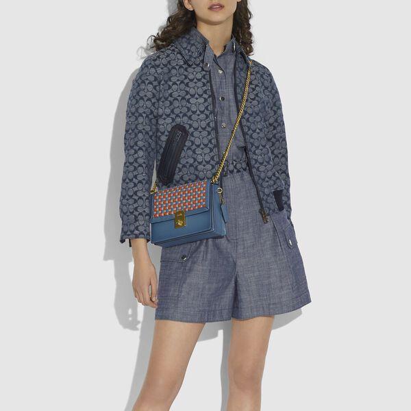 Hutton Shoulder Bag With Weaving, B4/LAKE MULTI, hi-res