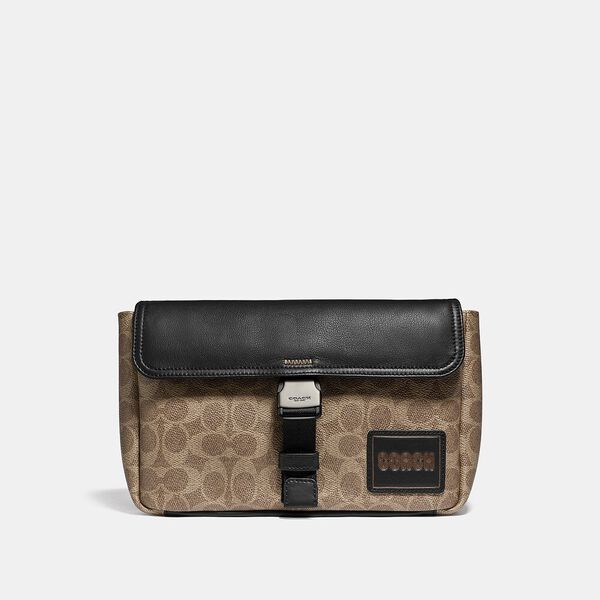 Pacer Belt Bag Crossbody In Signature Canvas With Coach Patch