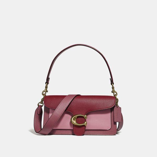 Colorblock Leather Tabby Shoulder Bag 26