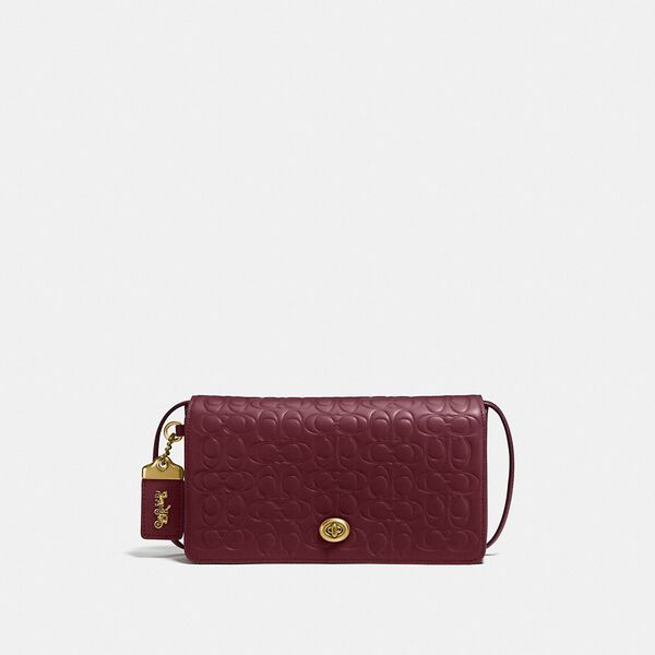 Dinky In Signature Leather, OL/BORDEAUX, hi-res