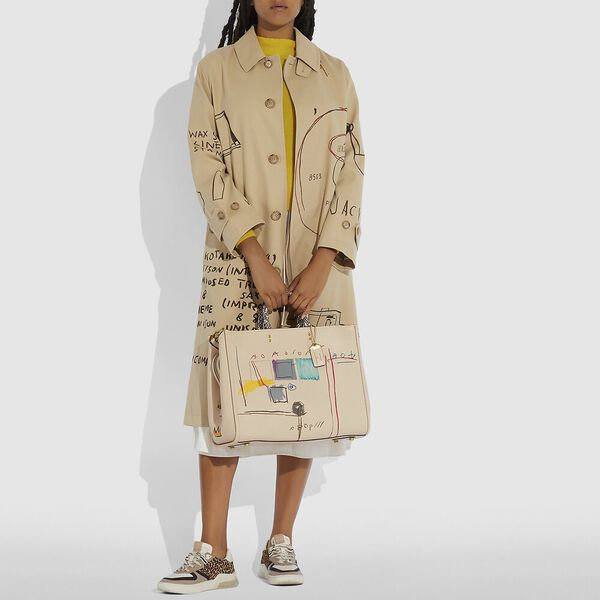 Coach X Basquiat Snake With Snake Handle Rogue Bag 39, B4/IVORY, hi-res