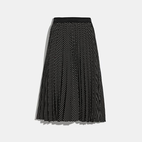 Micro Dot Pleated Skirt