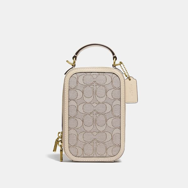 Alie Camera Bag In Signature Jacquard, B4/STONE IVORY, hi-res