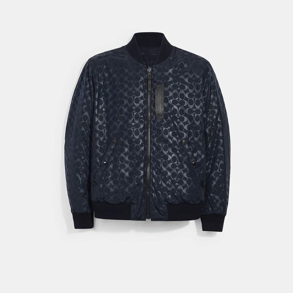 Signature Ma-1 Jacket, NAVY, hi-res