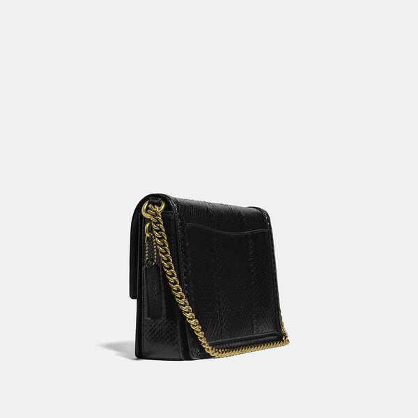 Hutton Shoulder Bag In Snakeskin, B4/BLACK, hi-res