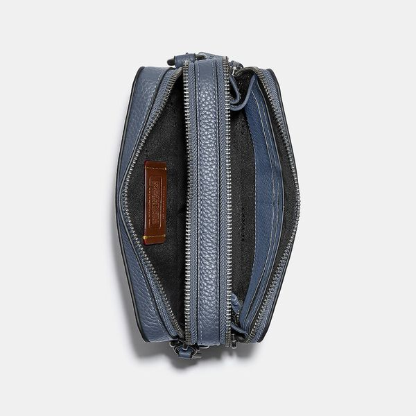 Charter Crossbody In Signature Leather, BLUE QUARTZ, hi-res