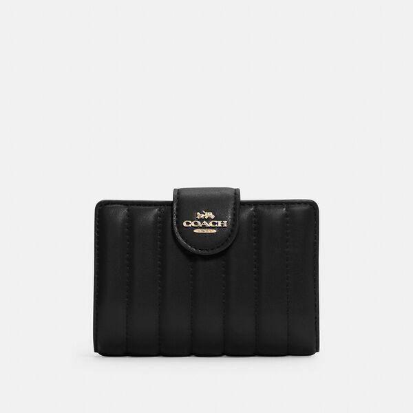 Medium Corner Zip Wallet With Quilting