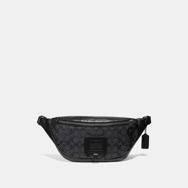 Rivington Belt Bag In Signature Canvas, QB/CHARCOAL, hi-res