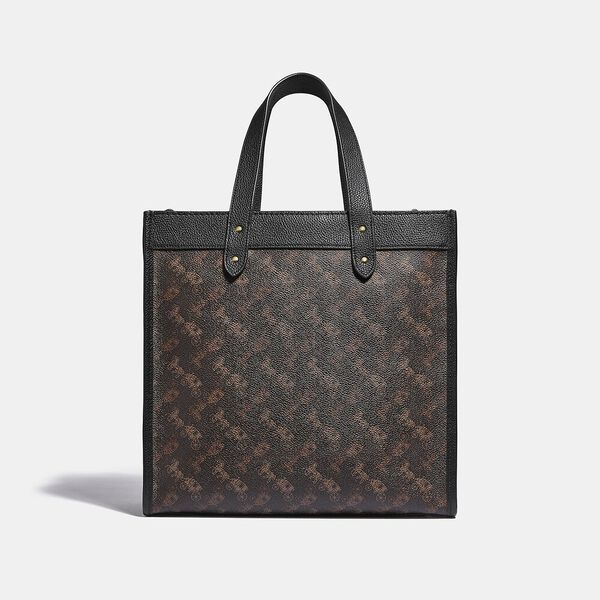 Field Tote With Horse And Carriage Print, B4/BLACK BROWN, hi-res