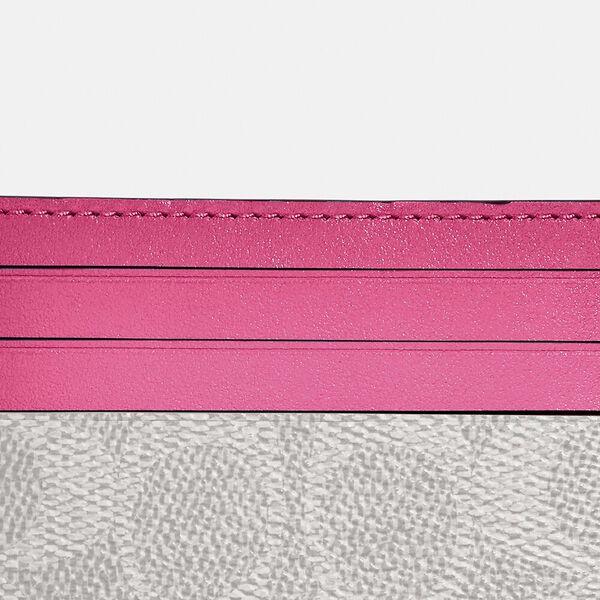 Card Case In Colorblock Signature Canvas, B4/CHALK CONFETTI PINK, hi-res