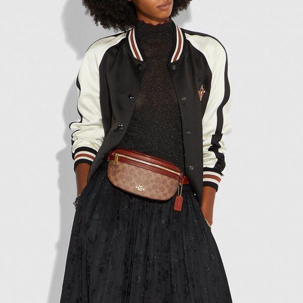 Belt Bag In Signature Canvas, B4/TAN RUST, hi-res