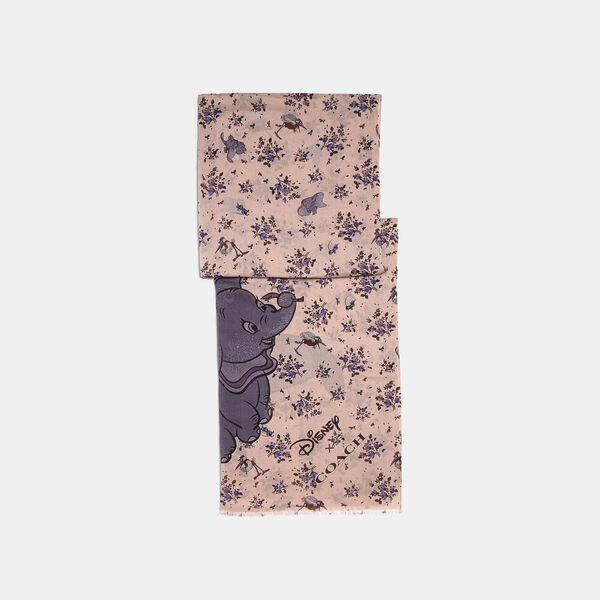 Disney X Coach Dumbo Floral Print Oblong Scarf, BLOSSOM, hi-res