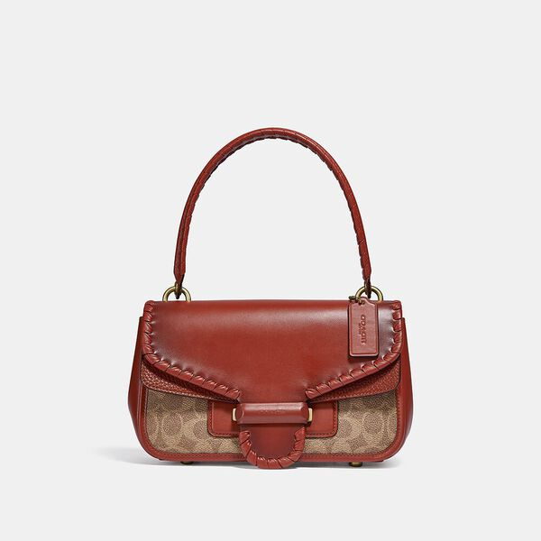 Cody Shoulder Bag In Signature Canvas With Whipstitch