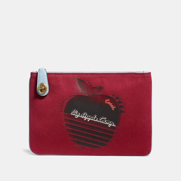 Turnlock Pouch 26 With Retro Big Apple Camp Print, B4/RED APPLE, hi-res