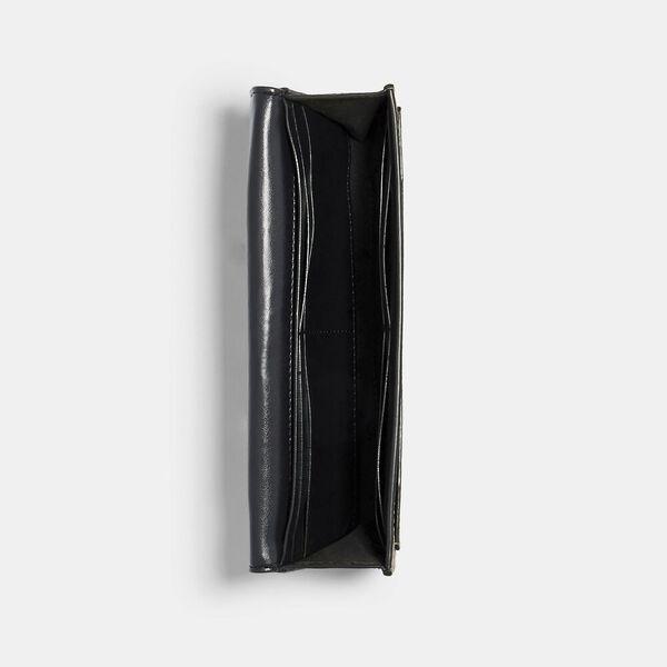 Slim Envelope Wallet In Signature Canvas, IM/BROWN/BLACK, hi-res