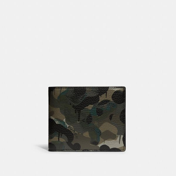 3-In-1 Wallet With Camo Print