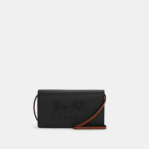 Anna Foldover Crossbody Clutch With Horse And Carriage