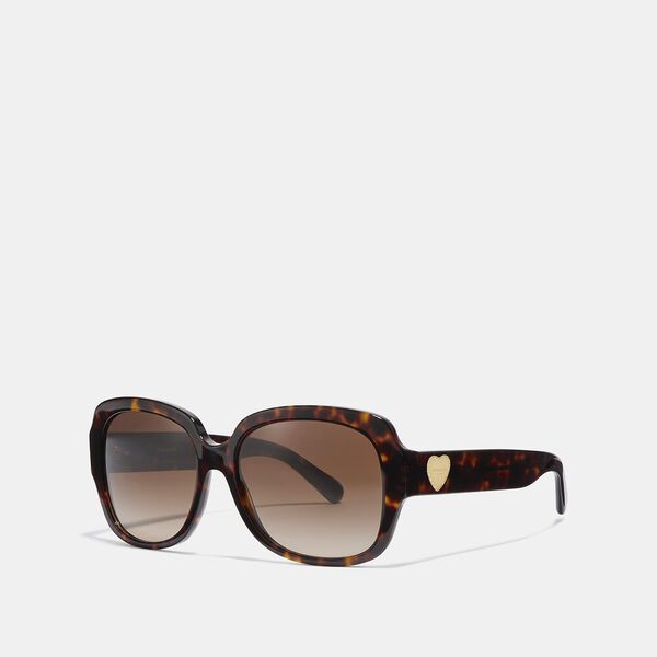 Zoey Heart Sunglasses, BROWN, hi-res