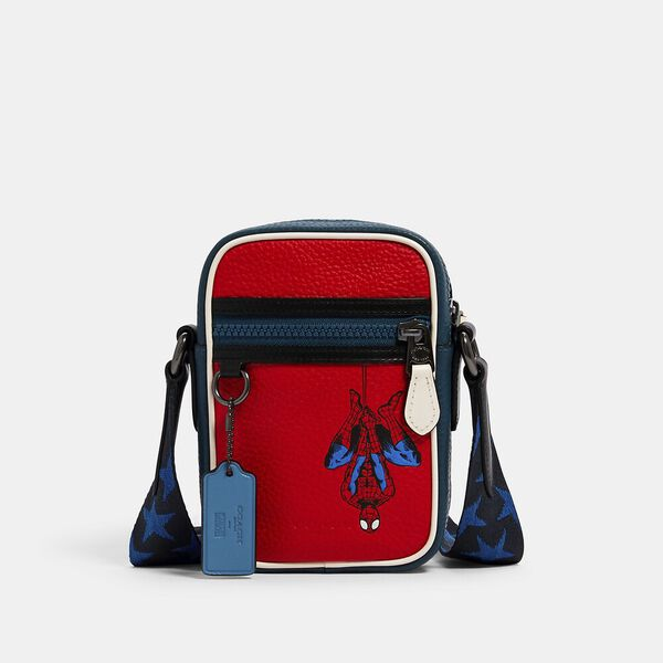 Coach x Marvel Terrain Crossbody With Spider-Man, SV/MIAMI RED, hi-res