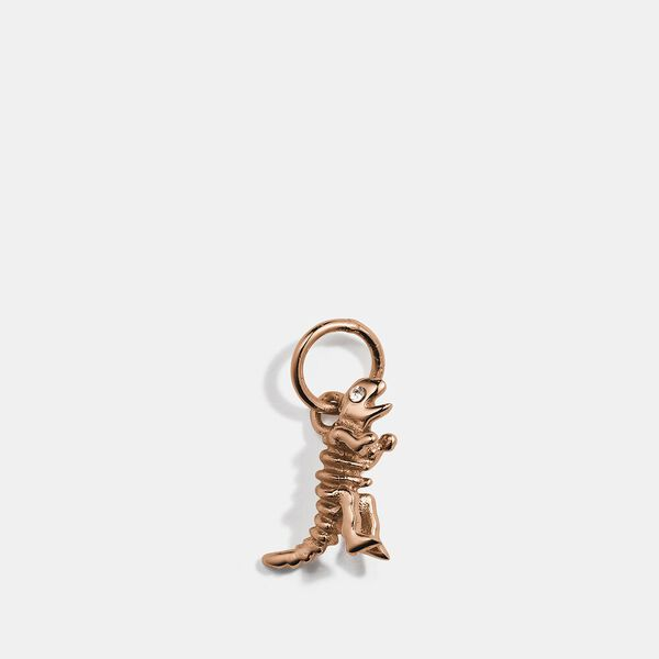 Collectible Skeletal Rexy Charm, ROSE GOLD, hi-res