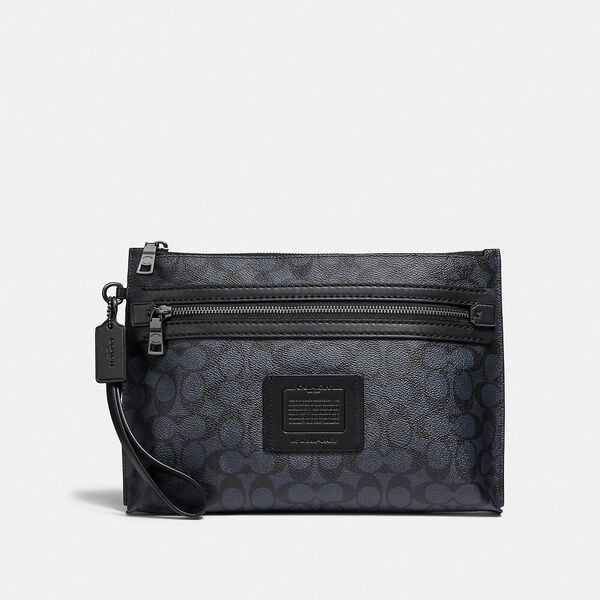 Academy Pouch In Signature Canvas, MIDNIGHT, hi-res