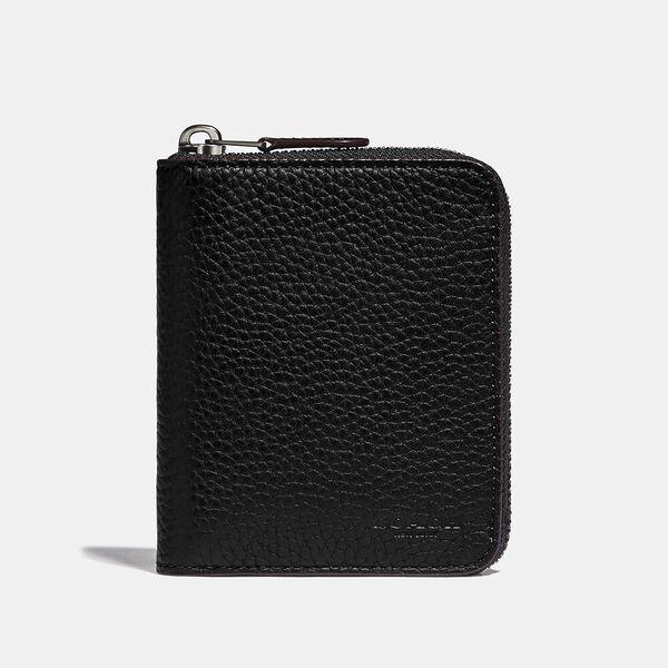 Zip Around Coin Wallet, BLACK, hi-res