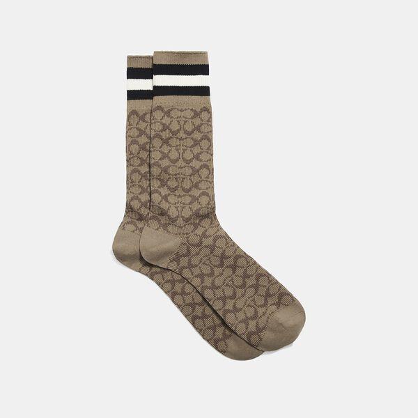 Signature Socks, TAN SIGNATURE MULTI, hi-res