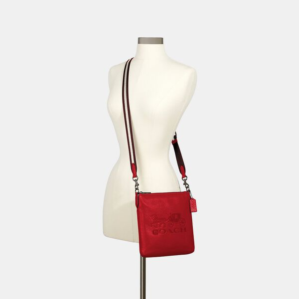 Jes Slim Crossbody With Horse And Carriage, QB/MIAMI RED, hi-res
