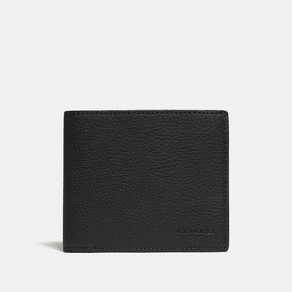 3-In-1 Wallet With Signature Canvas Detail, BLACK/KHAKI, hi-res