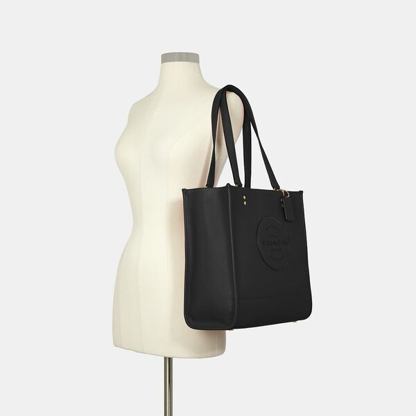 Dempsey Tote With Patch, IM/BLACK, hi-res