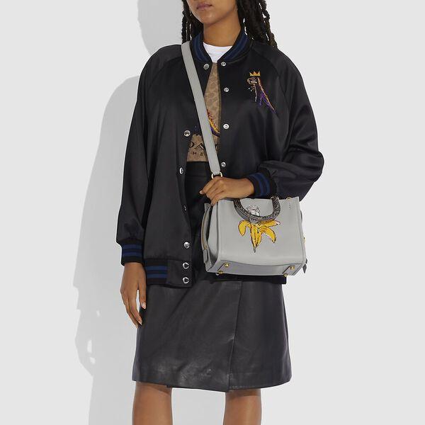 Coach X Basquiat Brown Spots And Snake Handle Rogue Bag 25, B4/CINDER, hi-res