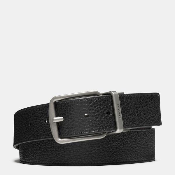 Harness Buckle Cut-To-Size Reversible Belt, 38Mm, BLACK/DARK BROWN, hi-res