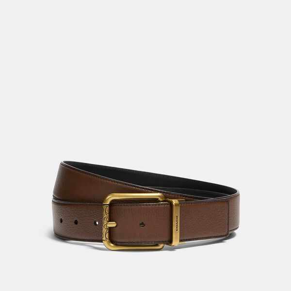 Square Roller Buckle Cut-To-Size Reversible Belt, 38mm
