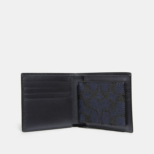 3-In-1 Wallet In Signature Canvas, MIDNIGHT, hi-res