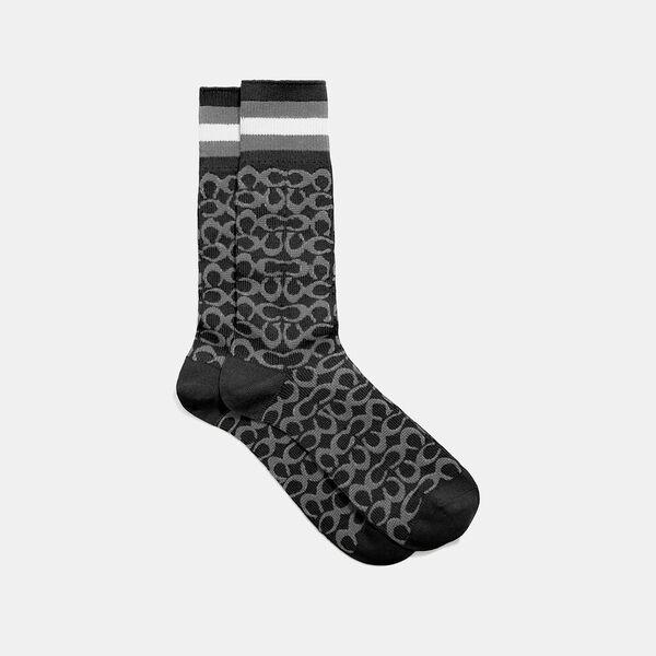 Signature Socks, CHARCOAL SIGNATURE MULTI, hi-res