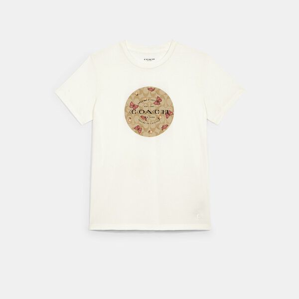 Signature Butterfly T-Shirt, WHITE, hi-res